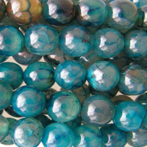 Agaat,  zeegroen, 12 mm, per streng