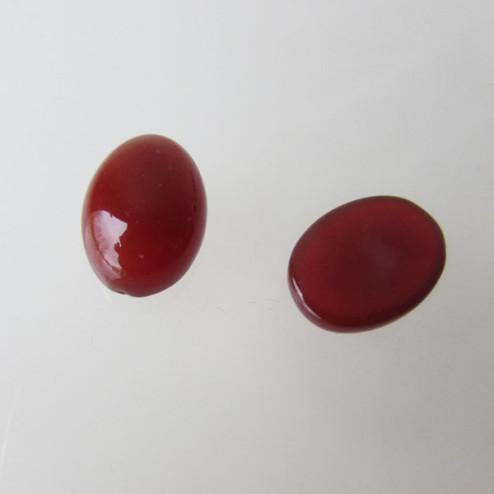 Cabochon CARNEOOL, 18 x 13 mm, rood, verpakt per stuk