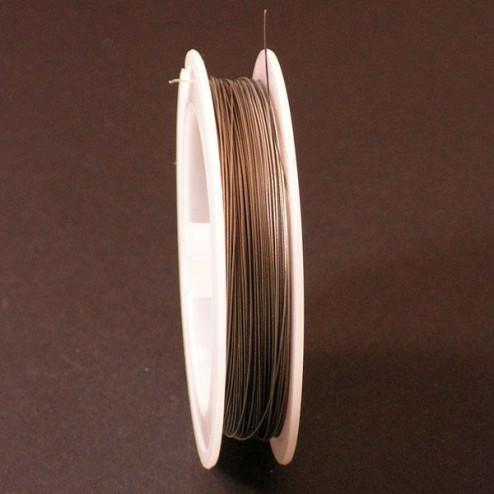 Acculondraad - 0.38 mm, zilverkleur, per rol van 100 meter