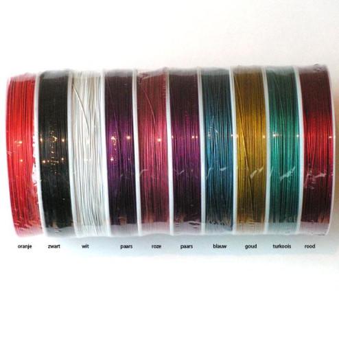 Acculondraad - 0.45 mm, mix, per 10 rollen van 100 meter