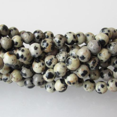 Dalmatier Jaspis, rond, 4 mm, per streng
