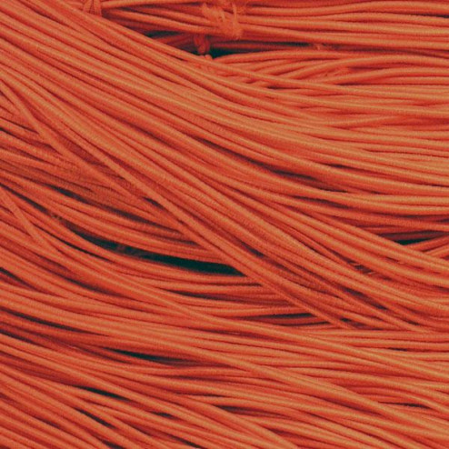 Elastisch koord, oranje, 1 mm, per 20 meter