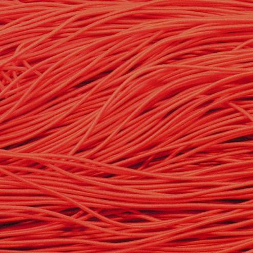 Elastisch koord, rood, 1 mm, per 20 meter
