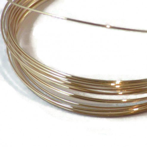 14 K Gold Filled draad, 21 gauge (0.7 mm), half hard, per meter
