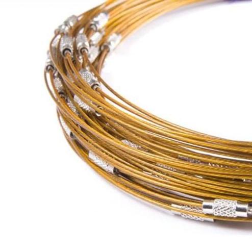 Spang, RVS, 45 cm, goudkleurig