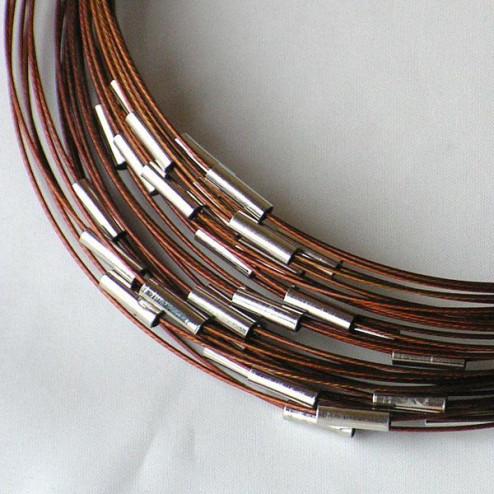 Spang, RVS, 43 cm, bruin