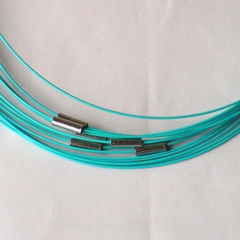 Spang, RVS, 52 cm, lichtblauw