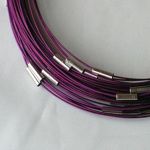 Spang, RVS, 48 cm, violet, draaislot