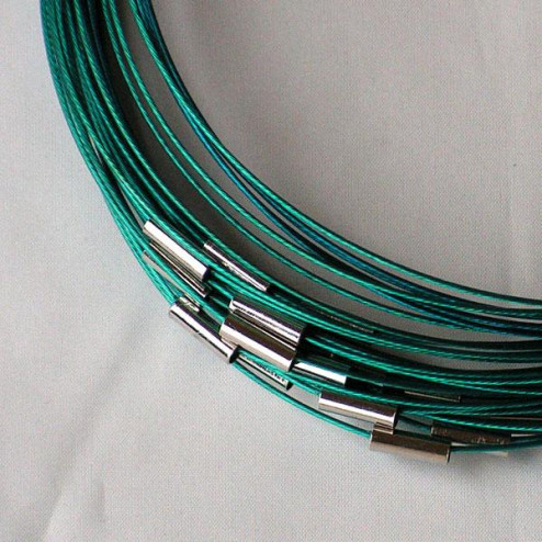 Spang, RVS, 48 cm, turquoise, magneetslot
