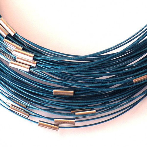 Spang, RVS, 48 cm, blauw
