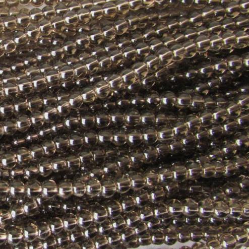 Rookkwarts, rond, ongeveer 4 mm, per streng