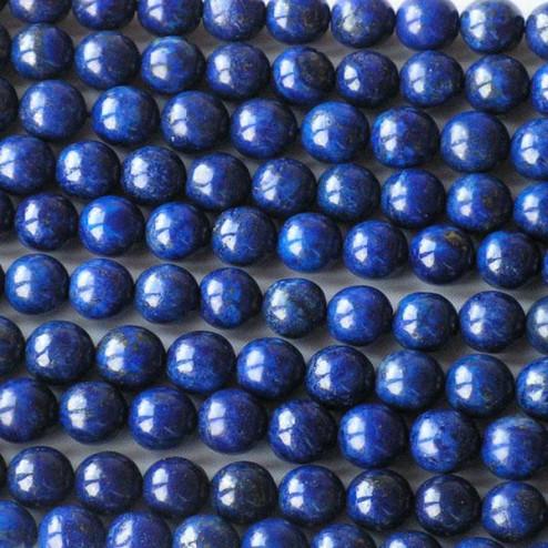 Lapis Lazuli, rond, 8 mm, per streng