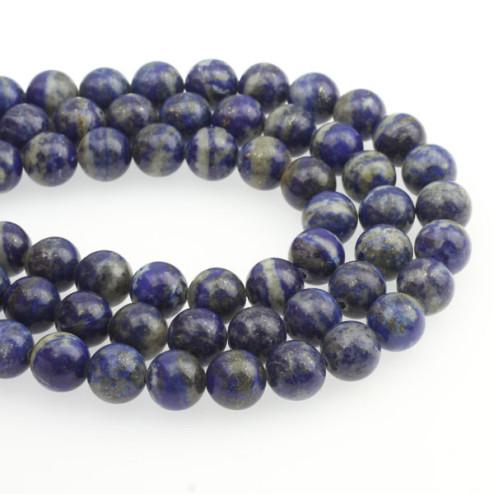 Lapis Lazuli, rond, 10 mm, per streng