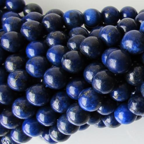 Lapis Lazuli, rond, 6 mm, per streng