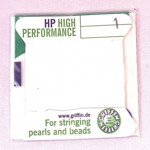 Griffin High Performance, wit, 0.35 mm  x 2 m, met naald