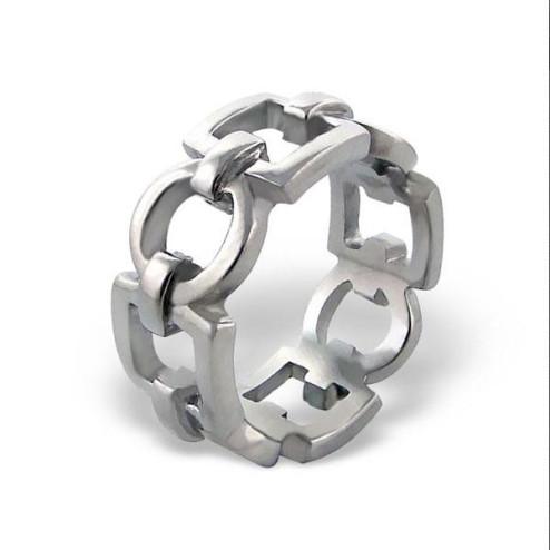 Edelstaal ring, maat 17.5, per stuk