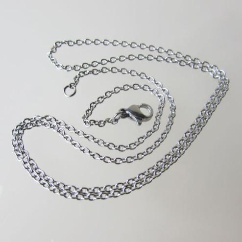 Edelstalen (316) halsketting, 50 cm