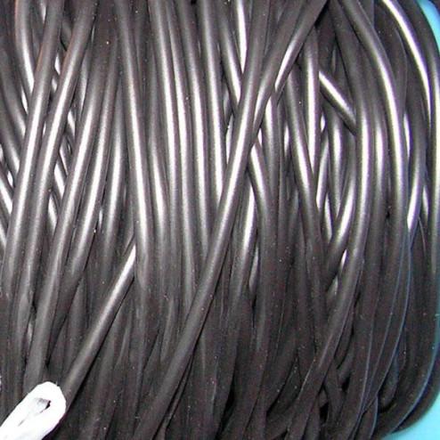 Rubberkoord, 3 mm, zwart, verpakt per 10 meter
