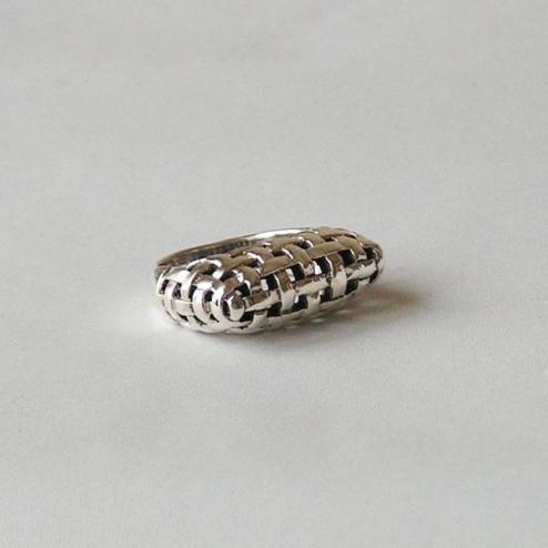 Sterling zilveren (925) ring, vlecht, maat 20