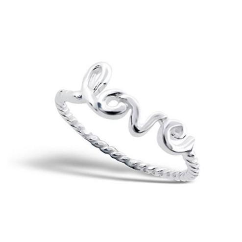 Sterling zilveren (925) ring, Love, MAAT 17.5, per stuk