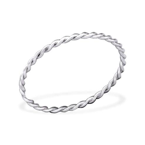 Sterling zilveren (925) ring, twisted, aanschuifring, MAAT 16.5, per stuk