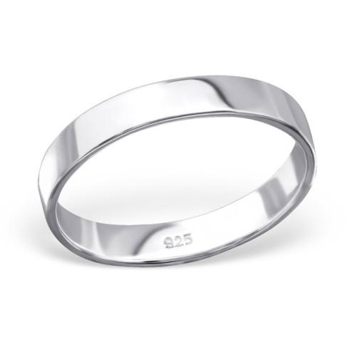 Sterling zilveren (925) ring, 3.4 mm breed, aanschuifring, MAAT 19.5, per stuk