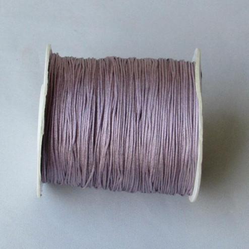 Satijnkoord, lila, 1 mm, per 90 meter