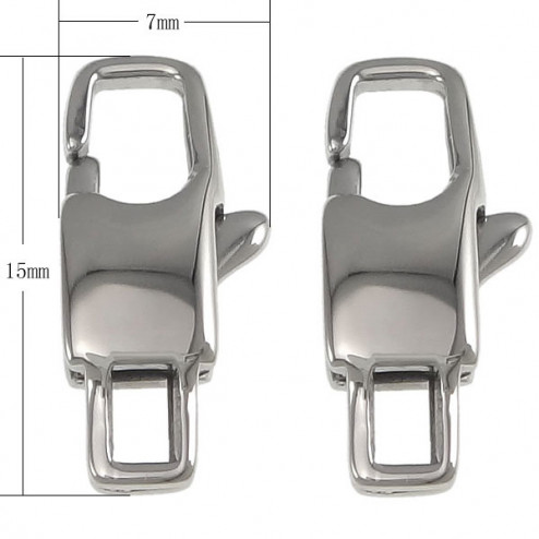 Edelstalen (316) RVS slot, 15 x 7 x 3.5 mm