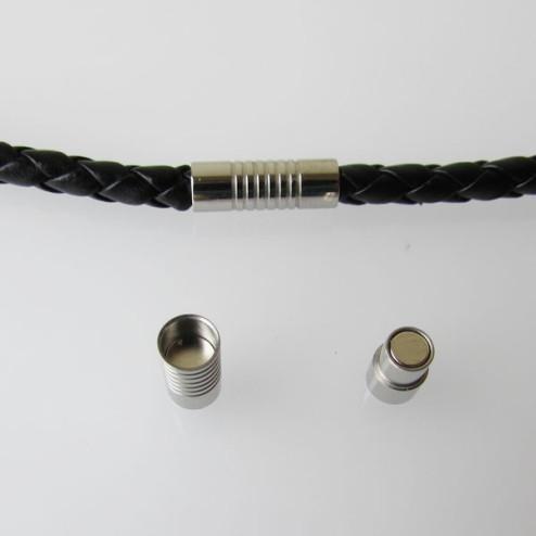 Edelstalen (316) RVS magneetslot, 17 x 6 mm