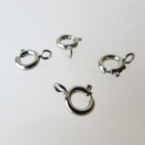 Edelstalen RVS springslot- veerring (316), 6 mm, verpakt per 10 stuks