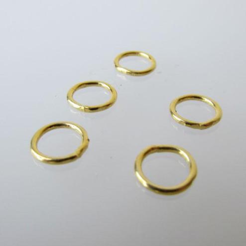 22 K Goud vermeil ring, 8 mm, gesloten, verpakt per 30 stuks