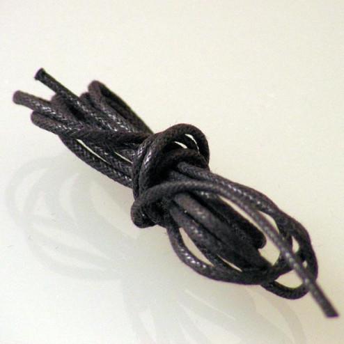 Waxkoord, zwart, 1.75 mm, per 10 meter