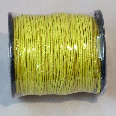 Waxkoord, geel, 1 mm, per 95 meter