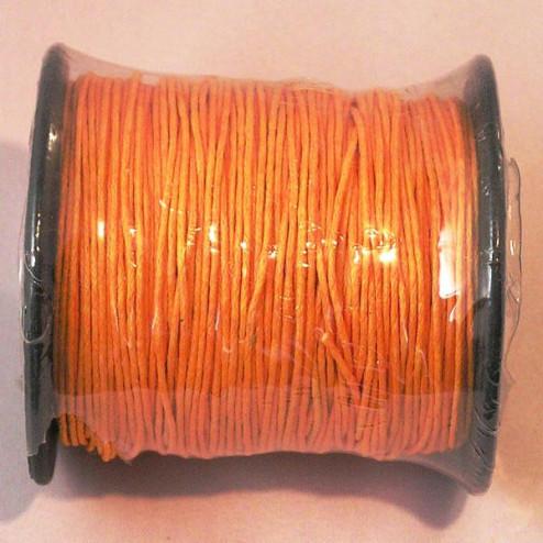 Waxkoord, oranje, 1 mm, per 95 meter