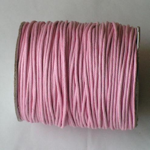 Waxkoord, roze, 2 mm, per 95 meter