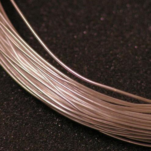 Fijn zilver draad (999/1000), 0.6 mm (22 gauge), half hard, per meter