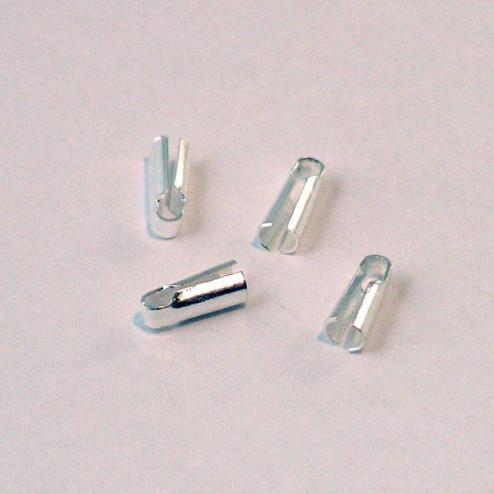 Sterling zilveren (925) eindstuk voor 1 mm koord,  verpakt per 30 stuks