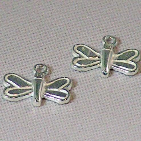 Sterling zilveren (925) bedel, vlinder, per 5 stuks