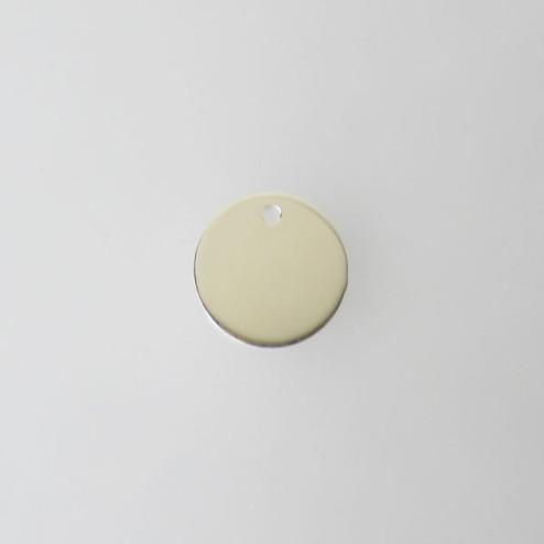 Sterling zilveren (925) bedel - tag - label, 11 x 1 mm, per stuk