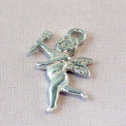 Sterling zilveren (925) bedel, engel, per stuk