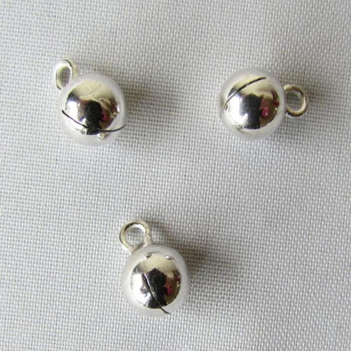 Sterling zilveren (925) bedel, belletje, 7 mm, per stuk