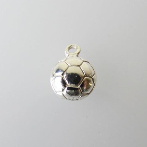 Sterling zilveren (925) bedel, Voetbal, 12 x 9 mm, per stuk