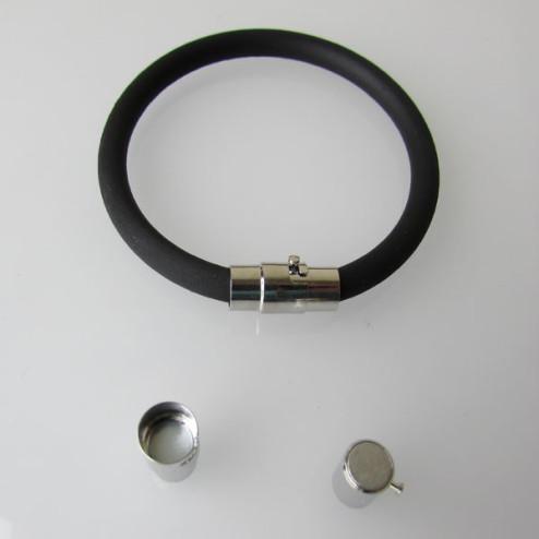 Zilverkleurig magneetslot, 17 x 8 mm