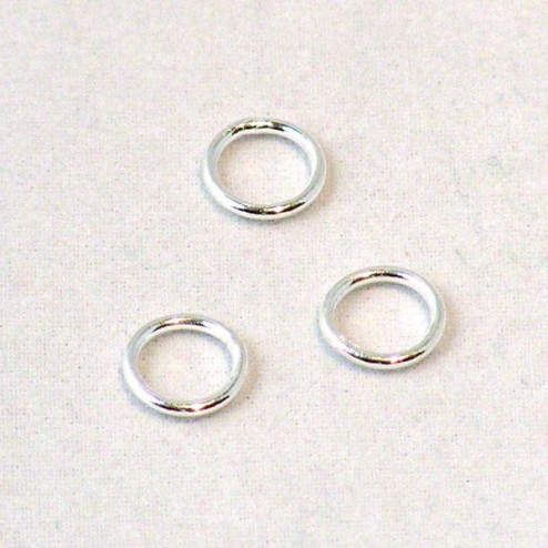 Sterling zilveren (925) ring, 8 mm, dicht, verpakt per 30 stuks
