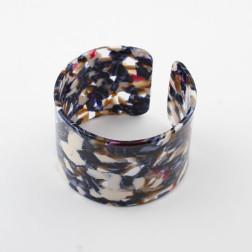 Acryl Armband, 18 cm,  blauw-rood, verpakt per stuk