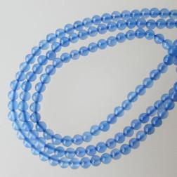 Agaat, blauw, 2 mm, per streng