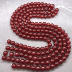 Agaat, rood, 4 mm, per streng