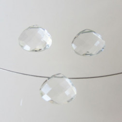 Briolette, Kristal, gefacetteerd, 12 x 10 x 6 mm, per stuk