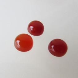 Cabochon Carneool, 6 mm, rond, verpakt per stuk