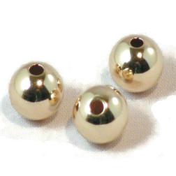 14 K Gold Filled kraal, 8 mm, verpakt per stuk